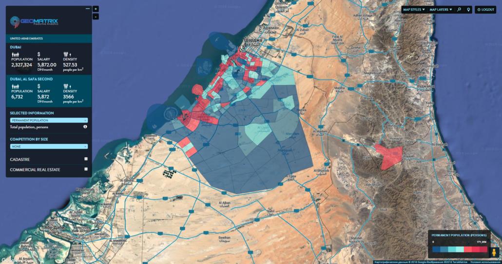 Administrative division of Dubai, UAE
