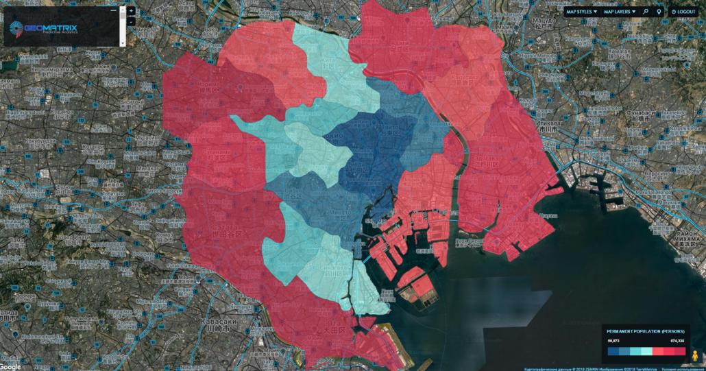 Administrative division of Tokyo, Japan